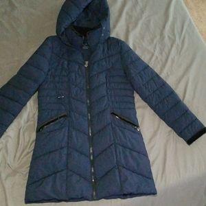 Preston & York Navy Blue Coat with Black Velvet